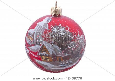 red christmas bauble isolated