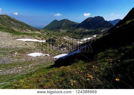 Glacial valley in the Transylvanian Alps, Romania