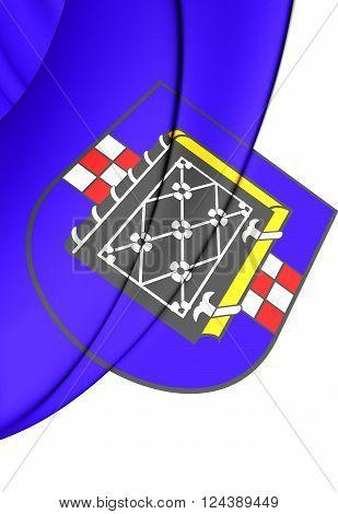 Flag Of Bochum (north Rhine-westphalia), Germany.