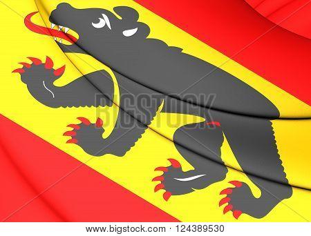 Flag Of Bern Canton, Switzerland.