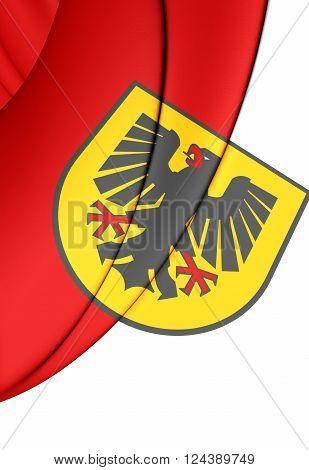Flag Of Dortmund (north Rhine-westphalia), Germany.