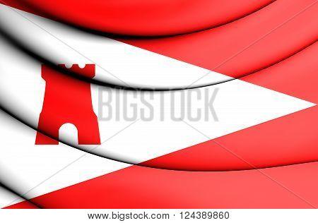 Flag Of Etten-leur (north Brabant), Netherlands.