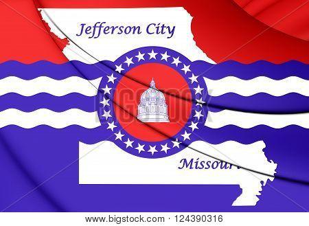 Flag Of Jefferson City, Missouri.