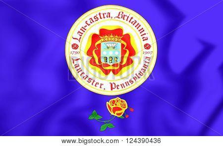 Flag Of Lancaster (pennsylvania), Usa.