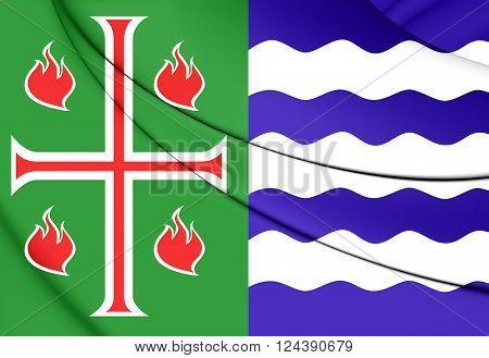 Flag Of Mayaguez Municipality, Puerto Rico.
