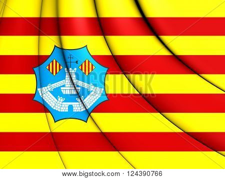 Flag Of Minorca, Spain.