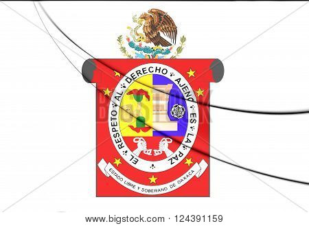 Flag Of Oaxaca State, Mexico.