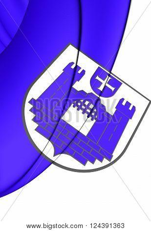 Flag Of Ravensburg (baden-wurttemberg), Germany.