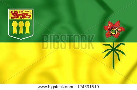 Flag Of Saskatchewan Province, Canada.