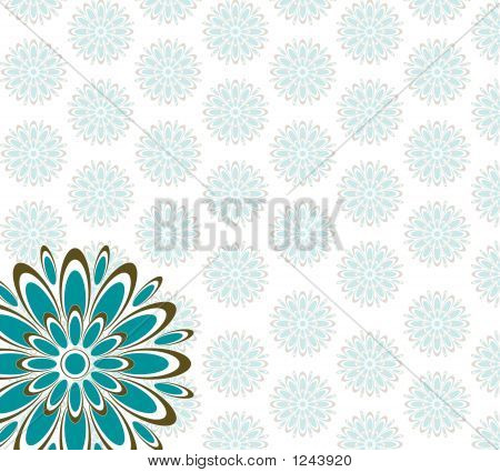 Retro Pattern Blue Brown