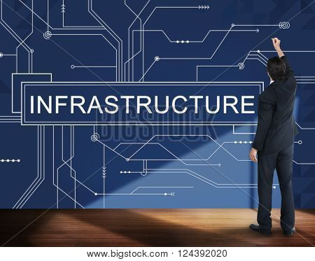 Infrastructure Technology Circuit Board Information Framework Concept