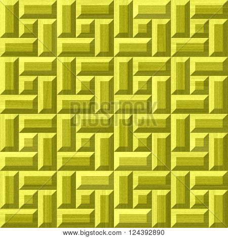 Golden metallic brick texture - abstract background