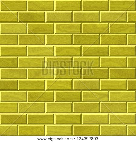 Golden texture wall with bricks - abstract background