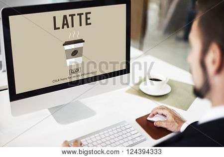 Latte Coffee Milk Foam Froth Caffeine Beverage Concept