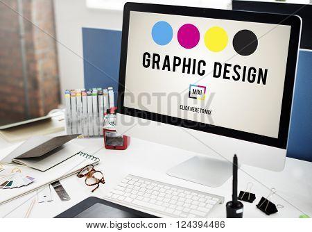 CMYK Ink Design Graphics Creativity Concept