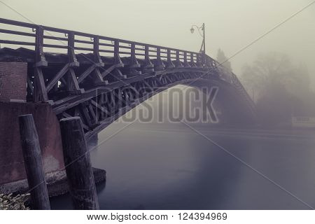 Fog On The Grand Canal And Accademia Bridge In Venice