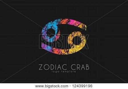 Zodiac crab logo. Crab symbol. Zodiac symbol