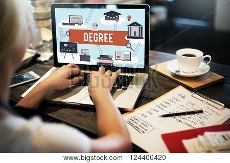 Degree Diploma Bachelor Master Expertise Wisdom Concept