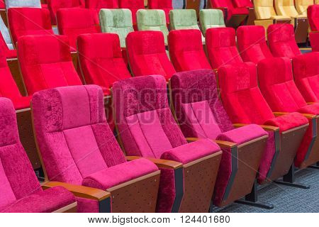 Empty Chairs In Theatre Or Conference Hall