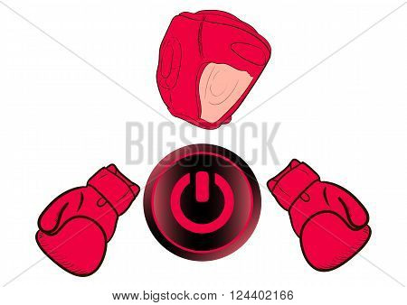 The boxer with the inclusion button in the form of an icon