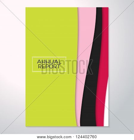 Modern abstract flyer and 4 sizes. Fashionable brochure cover of the annual report the design pattern book layout. Trend material design