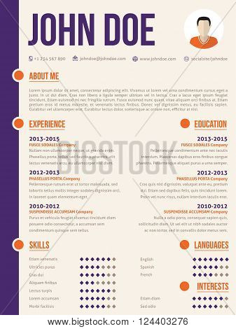 Simplistic yet colorful modern resume cv curriculum vitae template design