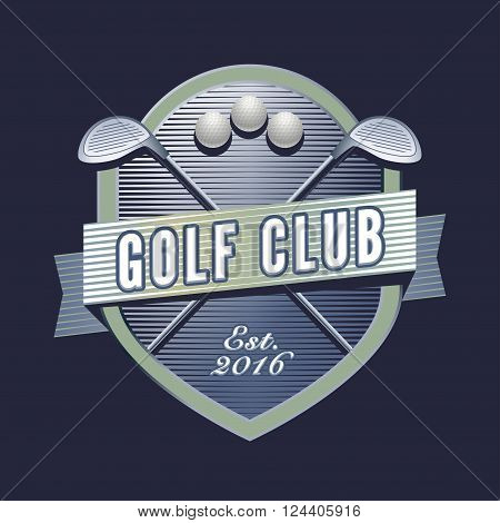 Vector logotype for golf club golf course. Design element for golf tournament