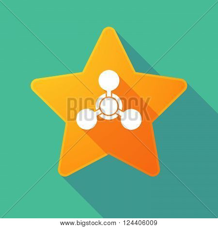 Long Shadow Star With A Chemical Weapon Sign
