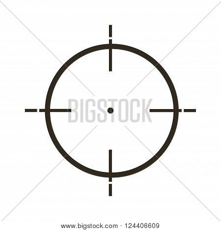 Sight Icon In  Flat Style, Gray Color White Background