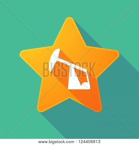 Long Shadow Star With A Horsehead Pump