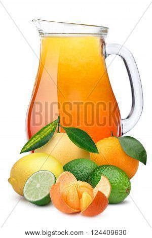 Pitcher Of Multifruit Citrus Juice