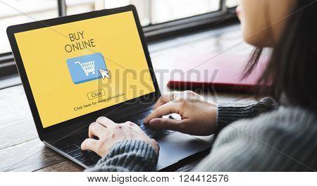 Buy Online Business Digital Technology Internet Concept