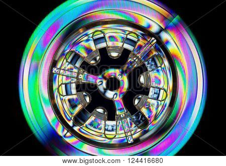 Abstract colorful light effects, polarized rainbow lights.