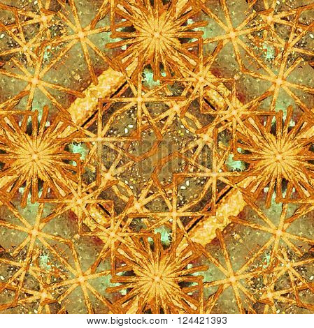 Digital Abstract Geometric Collage Background