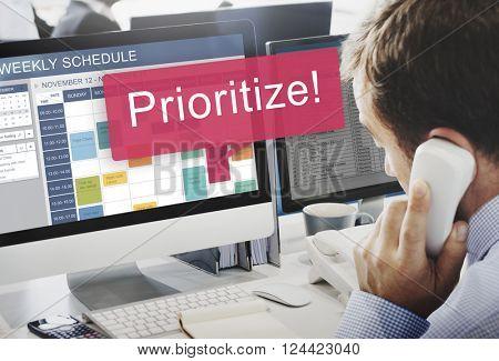 Prioritize Effective Focus Order Rank Tasks Urgent Concept