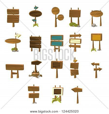 Video Game Pointers  Flat Vector Design Icons Set Of Isolated Items on White Background