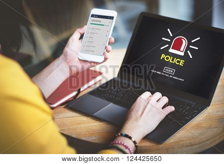 Police Force Cop Municipal Surveillance Officer Law Concept