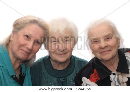 Three Old Women Smiling