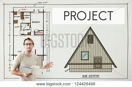 Project Plan Strategy Estimate Collaboration Job Concept