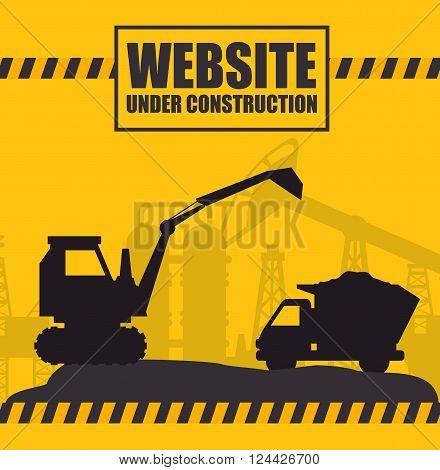 website under construction design, vector illustration eps10 graphic
