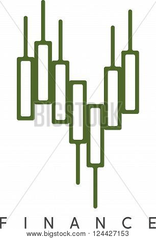 Abstract Vector Design Template Of Financial Graph Chart