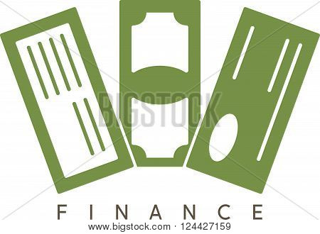 Abstract Vector Design Template Of Financial Instruments
