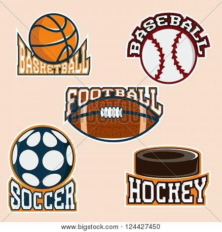 Set Of Vintage Vector Sport Labels And Elements