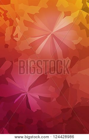 Colourful Crystallize Abstract Background In Fresh Summer Pink Orange