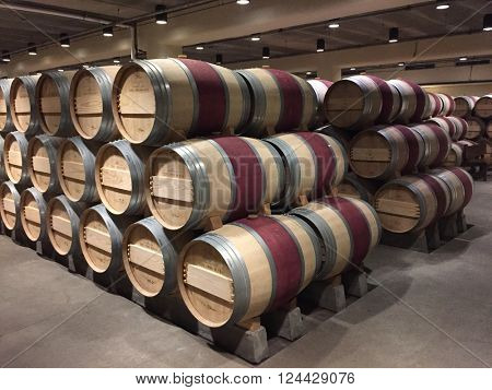 NAPA VALLEY - FEBRUARY 28: French Oak Wine Barrels at The Robert Mondavi Winery on February 23, 2016 in The Napa Valley, California, USA.
