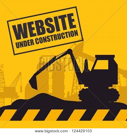 website under construction design, vector illustration eps10 graphic