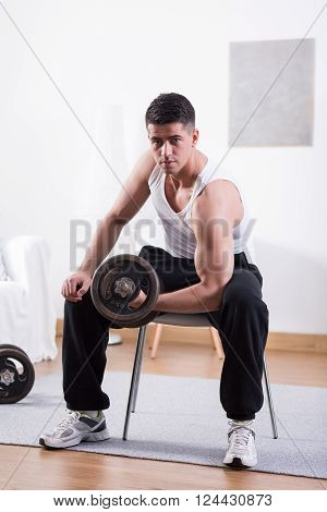 Lifting Dumbbell At Home