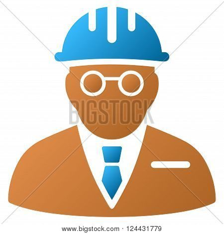 Blind Engineer vector toolbar icon for software design. Style is a gradient icon symbol on a white background.