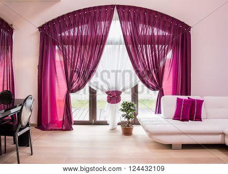 Elegant Drapes And Curtain