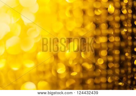 golden glitter and stars for christmas background.